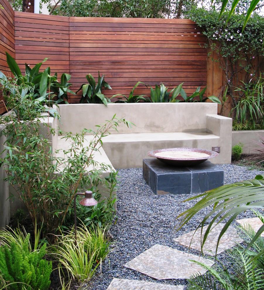 Patio - contemporary gravel patio idea in San Diego with no cover
