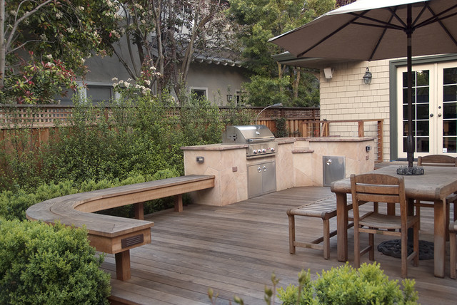 Deck east facing mediterranean patio san francisco for Verdance landscape design