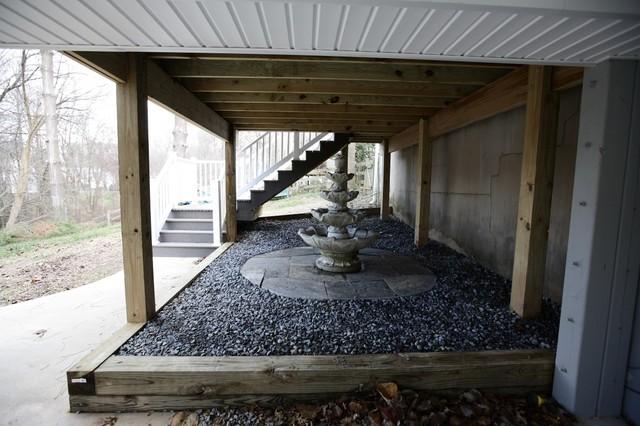 Deck Under Deck Ceiling Water Fountain Vienna Va