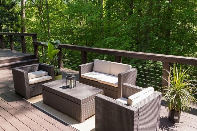 Deck view 2 contemporary patio atlanta for Outdoor furniture atlanta