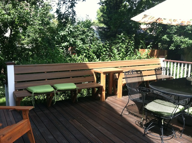 Decks and patios rustic patio denver by dwyer for Rustic porches and decks