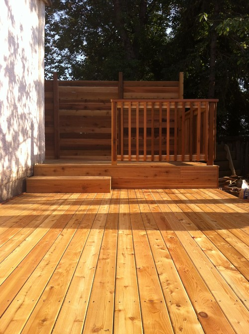 What Material Is The Decking Cedar And Is It Stained Thx
