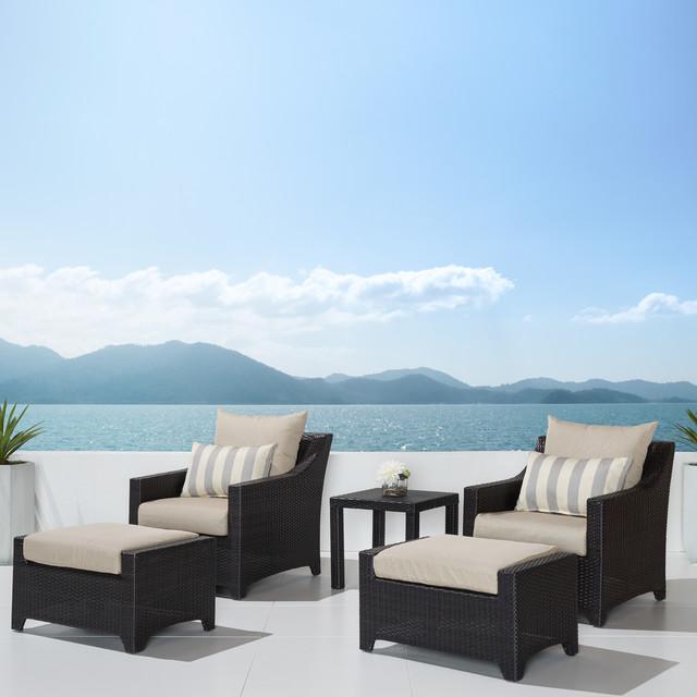 Deco 5pc Club Chair & Ottoman Set Bliss Modern Patio Salt Lake Ci