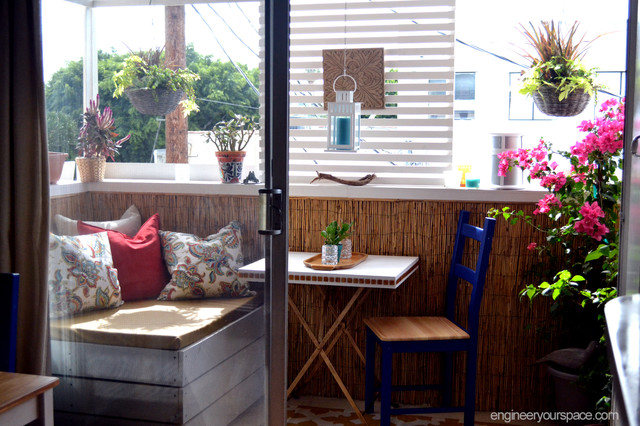 Decorating A Small Apartment Balcony In La Tropical Patio Los Angeles By Engineer Your E