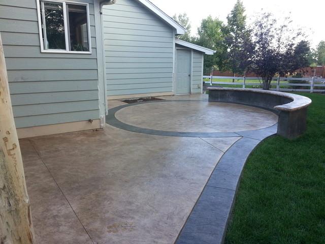 decorative concrete patios transitional patio