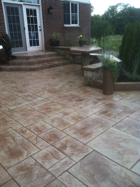 decorative concrete patios contemporary patio