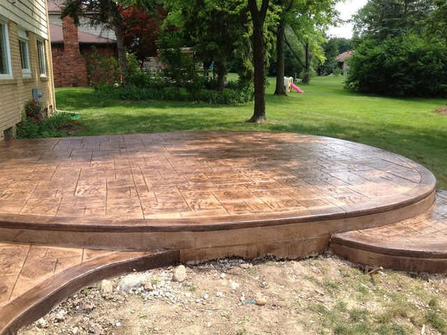 Decorative Epoxy Floor Traditional Patio Detroit