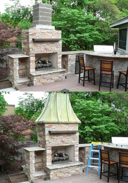 Decorative Outdoor Fireplaces : Decorative shrouds for outdoor patio fireplace pizza ovens
