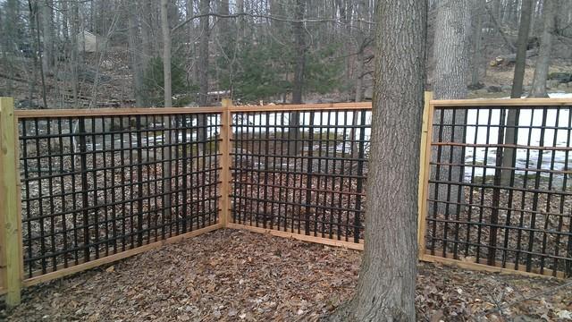 Decorative wood fence