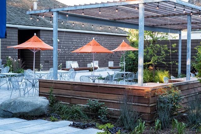 Trendy patio photo in Boston