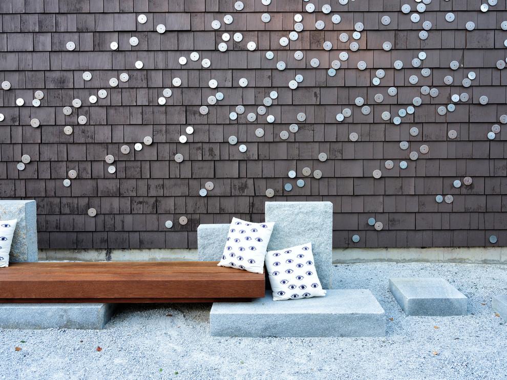 Inspiration for a contemporary patio remodel in Boston