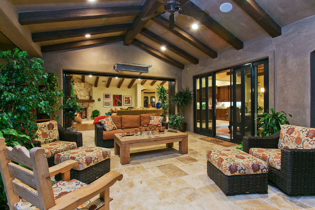 Del Sur Country House Veranda Room Traditional Patio San Diego By McCullough Design