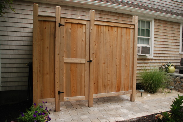 deluxe cedar outdoor shower