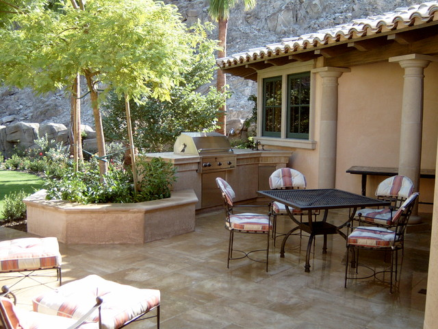 mediterranean patio by James Dean Design