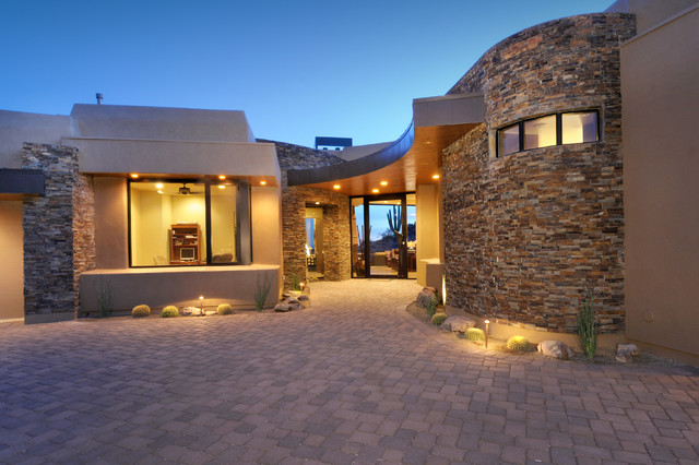 Desert contemporary 751 southwestern exterior for Southwest architecture style
