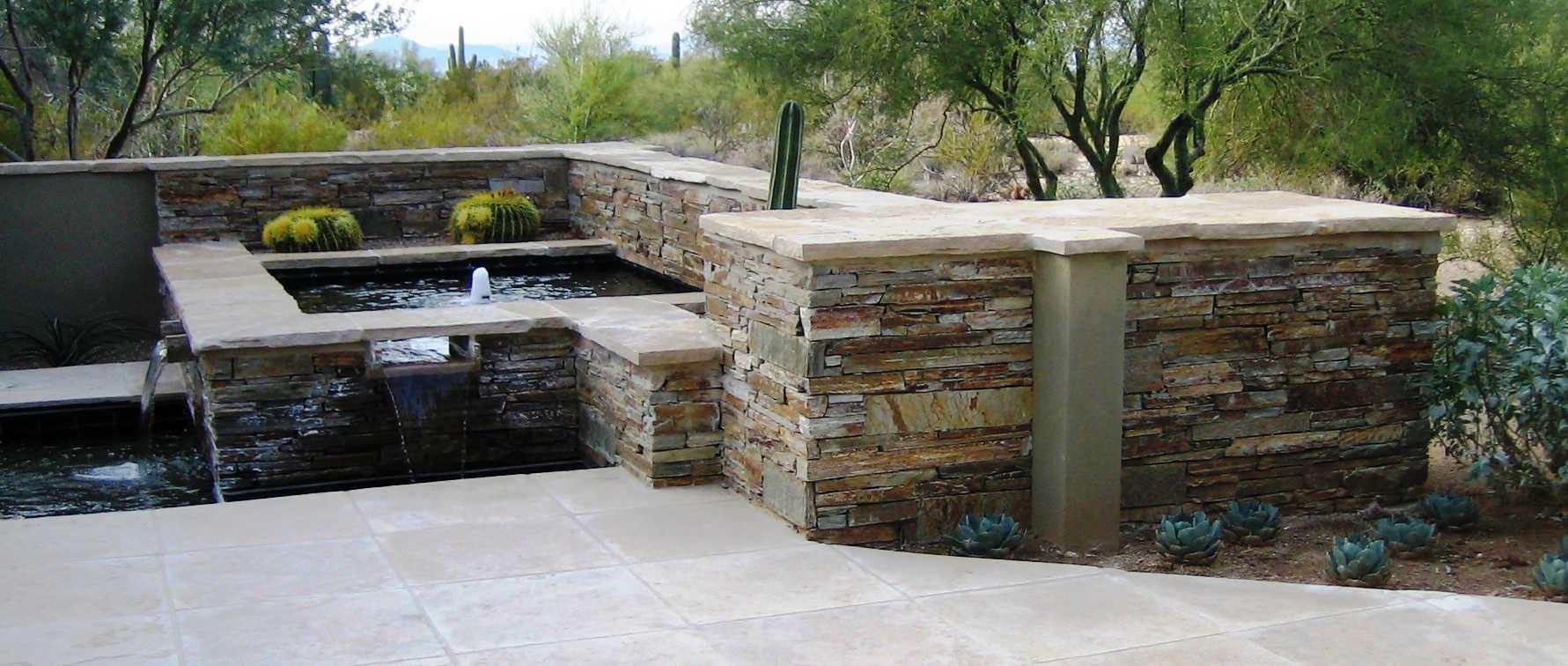 Desert Highlands II--Flagstone Water Feature