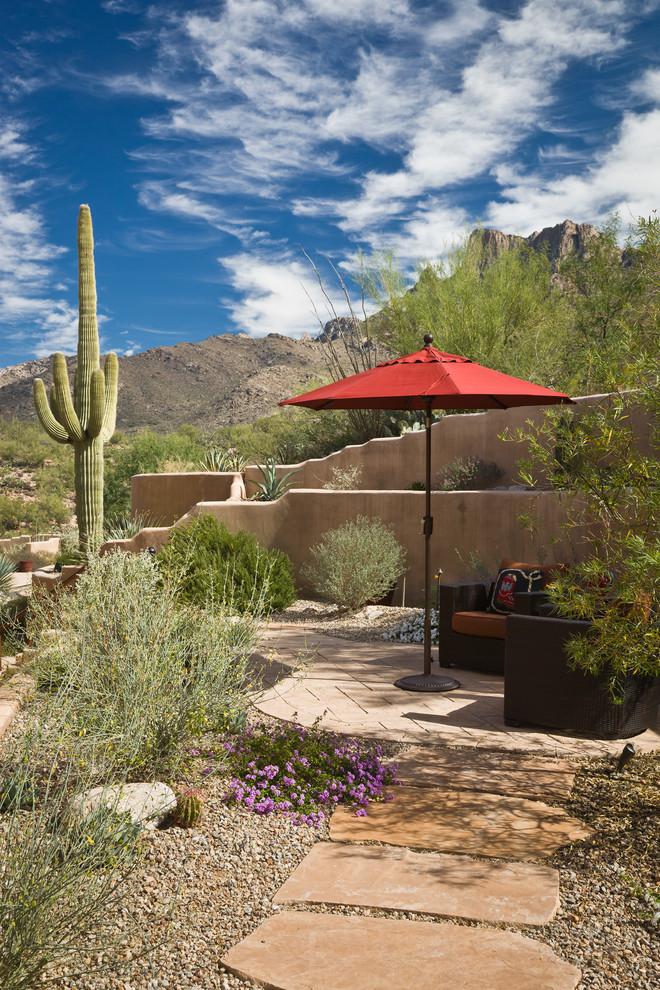 Patio - southwestern patio idea in Phoenix with no cover