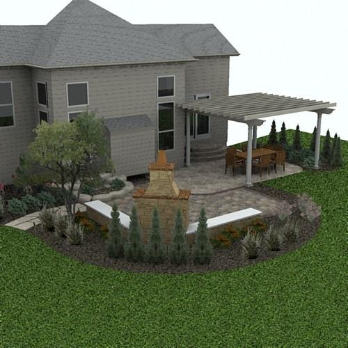 Design and 3D Representation traditional-patio