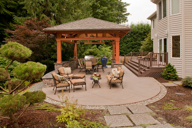 Detached Covered Patio Traditional Patio Seattle