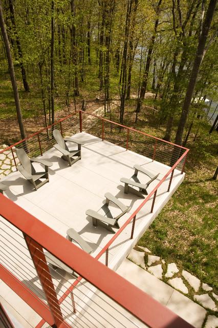 DeWitt Lake House beach-style-patio