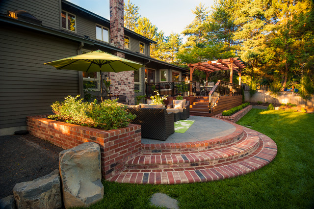 Dickson property traditional patio portland by for Paradise restored landscaping exterior design