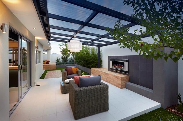 Display home the allure contemporary patio perth for Pool design ventura