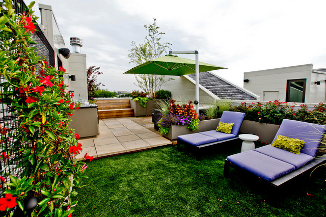 Rooftop Landscape Houzz - Rooftop landscaping