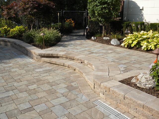 Dix Hills Backyard Pool Project traditional-patio