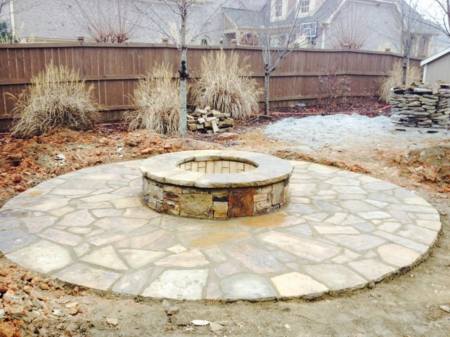 Diy Fire Pit Kit Rustic Patio Other By Daco Stone