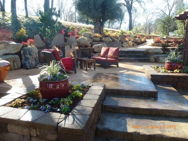 Terraced Backyard Diy : bushnell gardens landscape landscape architects landscape designers