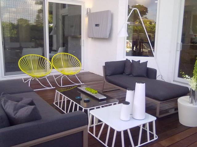 Dkor interiors a modern miami home interior design - Patio interior decoracion ...