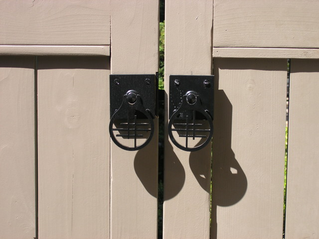 Double Gate With Dummy Handle Asian Gate Hardware Asian