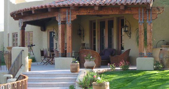 Douglas Fredrikson Architects mediterranean-patio