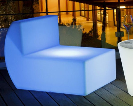Down Illuminated Outdoor Chair - Down illuminated outdoor chair.