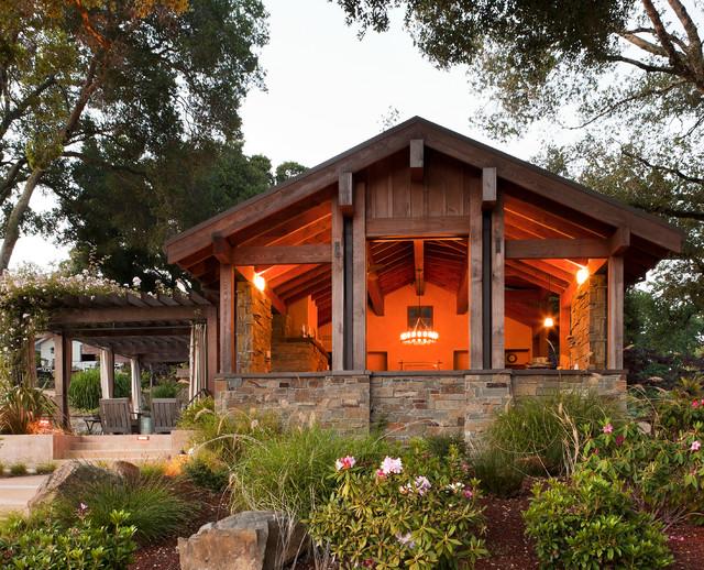 Dressel Pool Pavilion, Woodside, CA mediterranean-exterior