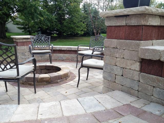 Two Tiered Backyard : Dublin Two Tier Patio  Traditional  Patio  columbus  by Backyard