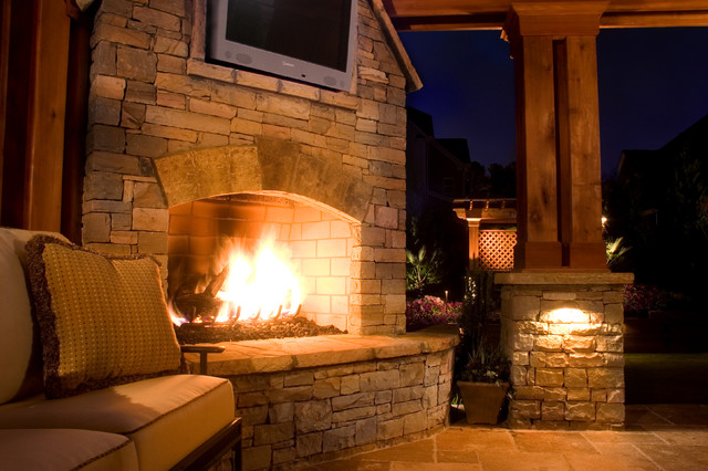 Duluth Outdoor Living Area traditional-patio