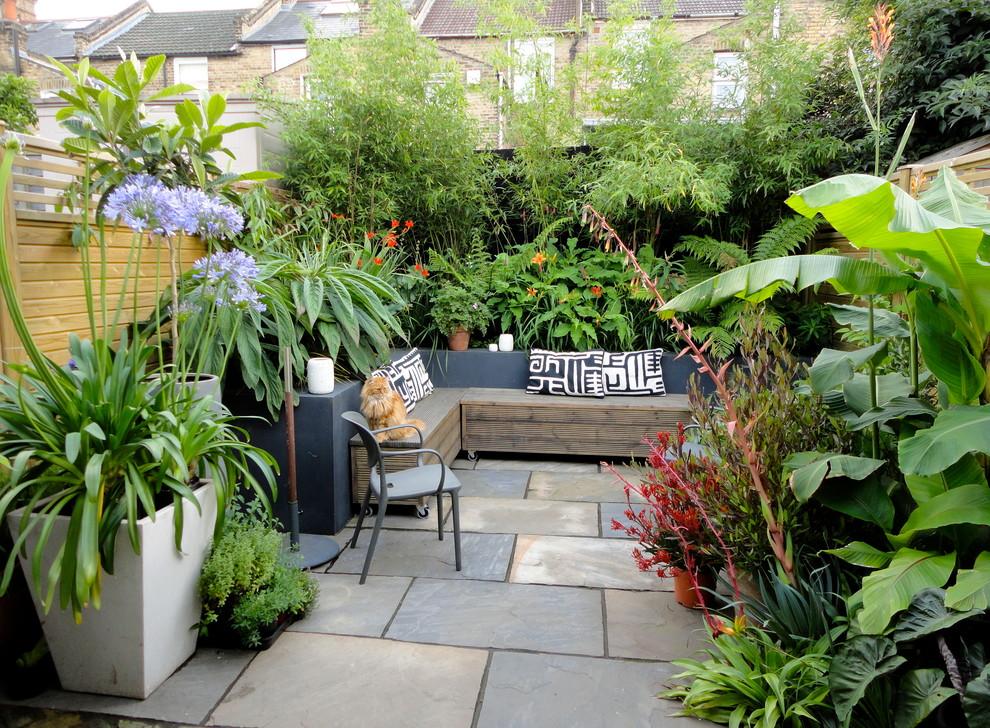 Trendy patio photo in London