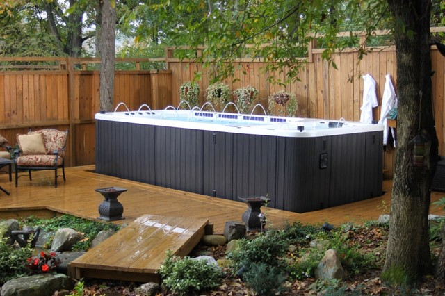 Dynasty Spas U0026 Swim Spas Traditional Patio