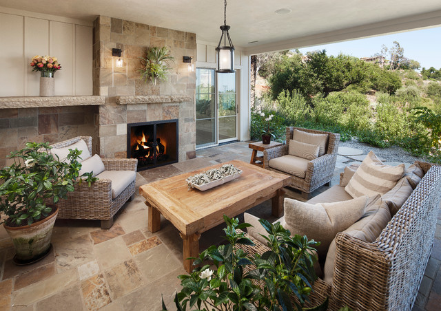 East Mountain Traditional Patio Santa Barbara By DD Ford - Outdoor living room set