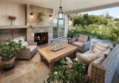 traditional-patio 15 Beautiful Wicker Furniture Design Inspirations