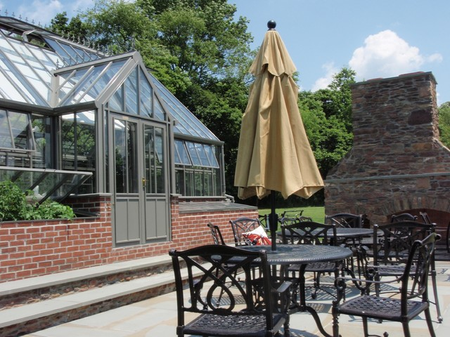 Eastern Pennsylvania Greenhouse With Wine Cellar Traditional Patio