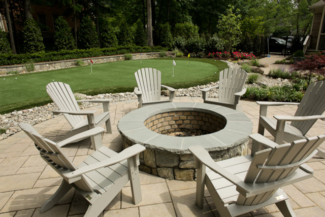 Wood Burning Fire Pit Traditional Pool