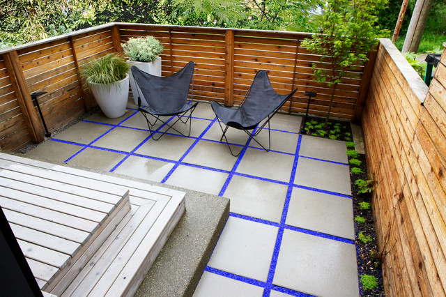 eclectic small townhouse courtyards contemporary patio - Small Townhouse Patio Ideas
