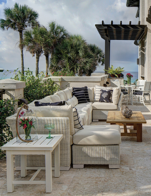 Eclectic style with outdoor furniture modern patio for Eclectic furniture style