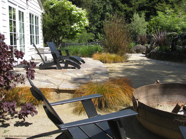 Eco Friendly Garden In Kentfield Ca Lawn Replaced With Dg