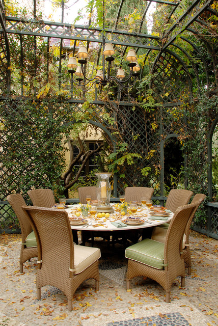 Eco Friendly Tuscan Estate Traditional Patio
