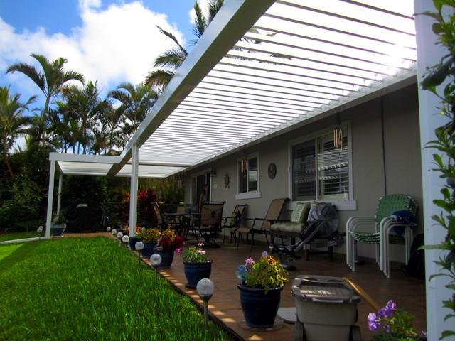 EcoShade Louvered Roofs tropical-patio
