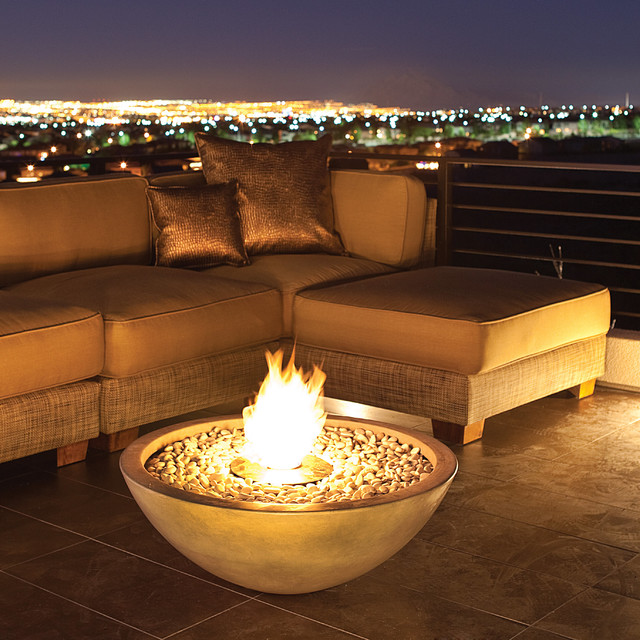 EcoSmart Fire Mix 850 Indoor/Outdoor Fire Bowl - Contemporary ...