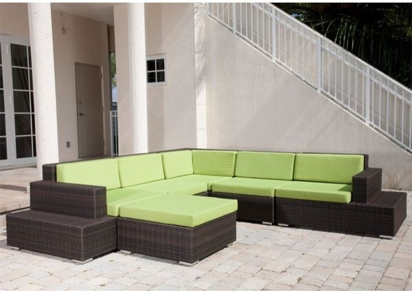 outdoor sectional sofa cushions edge collection contemporary patio wicker set walmart